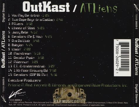 Outkast 13th Floor Growing by Outkast Atliens Cds Rap Guide