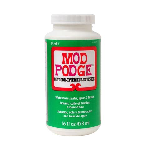 What Glue For Decoupage - mod podge 16 oz outdoor decoupage glue cs15062 the home
