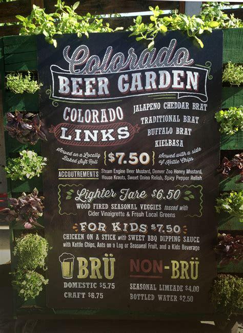 Garden Bar Menu by Menu Board For Garden Bar At The Denver Zoo On Behance