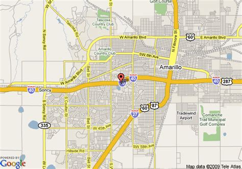amarillo maps map of baymont inn suites amarillo amarillo