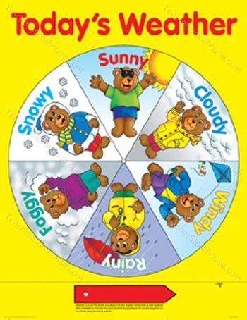 kindergarten themes weather weather chart kindergarten printable preschool seasons