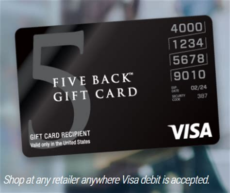 5 Visa Gift Card - five back visa gift card a new way to earn 5x and save money frequent miler