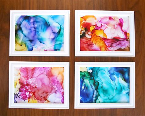 easy diy arts and crafts how to make gorgeous fired ink it s so easy