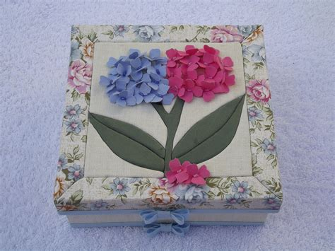 3d Patchwork - caixa patchwork embutido flores 3d boutique d