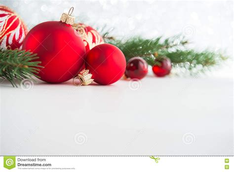 red xmas ornaments on wooden background merry christmas