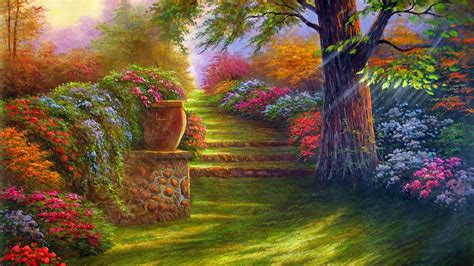 Flower Garden Wallpapers Wallpaper Cave Garden Wall Paper