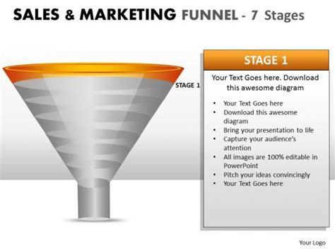 sales funnel template powerpoint editable strategy marketing sales funnel powerpoint slides