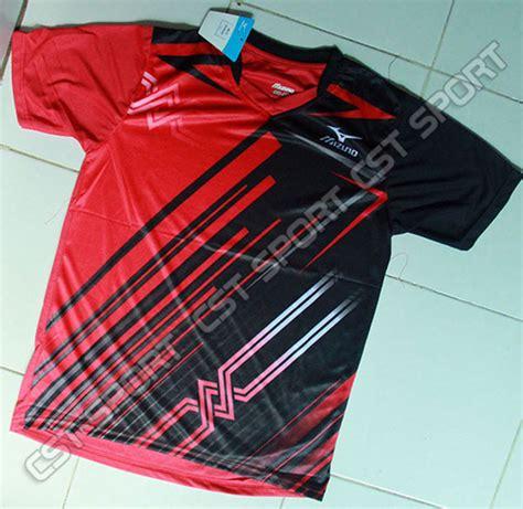 Kaos Souvenir Italia Hitam Murah jual kaos mizuno hitam merah kostum baju volly murah olahraga grosirecer fajarbulan sports
