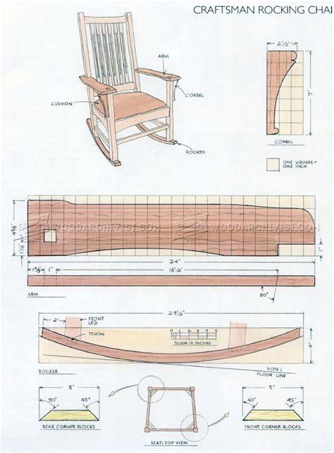 craftsman rocking chair plans woodarchivist