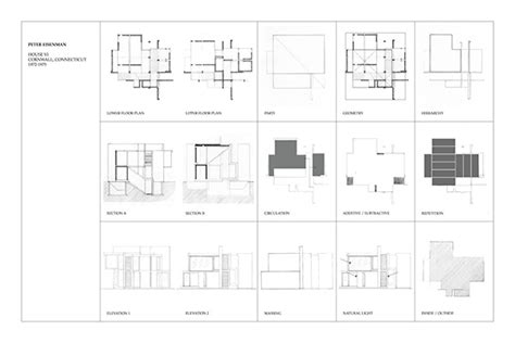 peter eisenman house vi plans house vi on behance