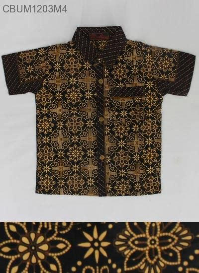 Kemeja Anak Batik Genthong The Series kemeja batik anak katun cappucino kemeja murah batikunik