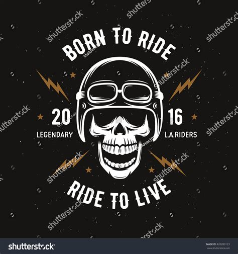 Tshirt Live To Ride vintage motorcycle tshirt graphics born ride stock vector