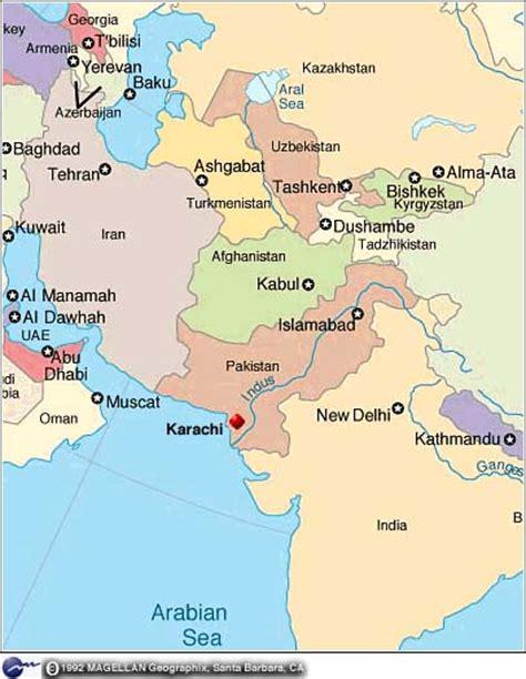 where is karachi on the world map cnn detailed map of pakistan nov 12 1997
