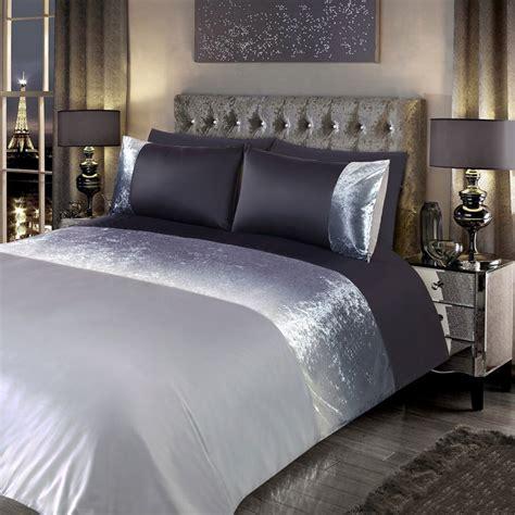 ombre bedding sets ombre crushed velvet double duvet set bedding b m stores