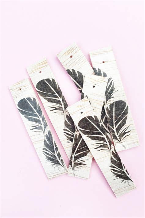 tattoo paper for wood diy feather wood tagsmaritza lisa