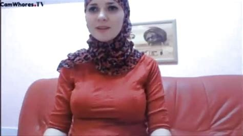 Headscarved Egyptian Woman Flashing Her Big Tits