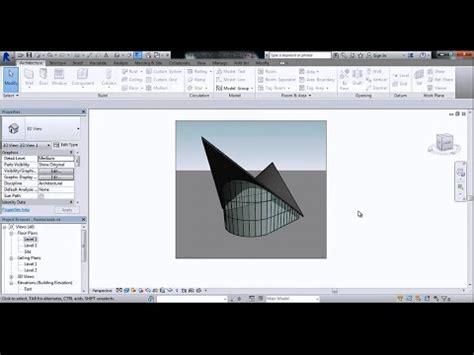 tutorial de revit 2015 en español revit architecture 2015 forma paraboloide masa youtube