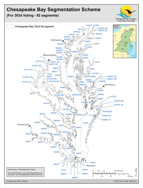 chesapeake bay map maps chesapeake bay program