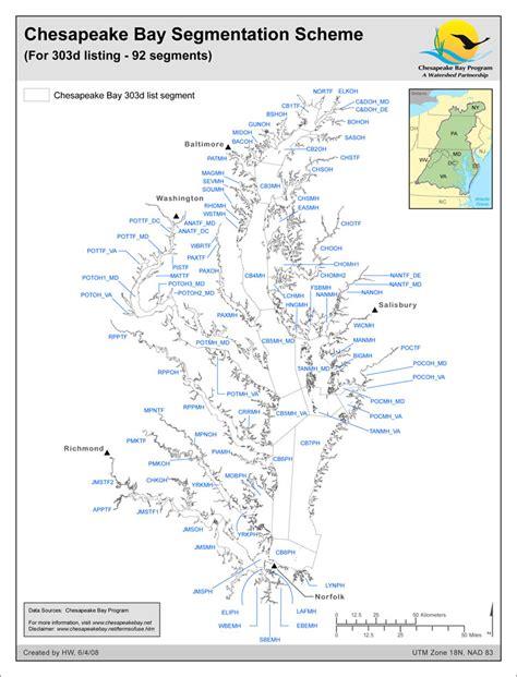 maryland bay map maps chesapeake bay program
