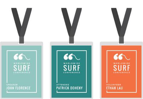 exhibition id card design conference identity badges branding pinterest badges