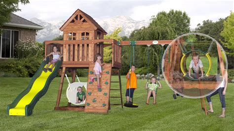 backyard swing set ideas inspirations playground sets for backyards with play systems featuring inspirations