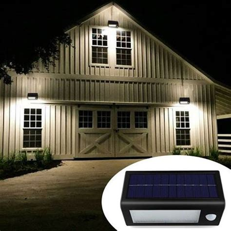 outside security lighting for homes solar powered motion sensor lights bright