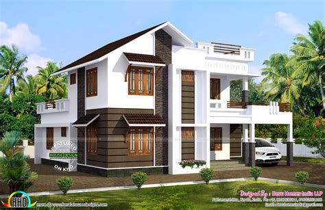 sq ft south facing vastu house kerala home design and