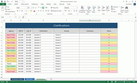 Procedure Template Ms Word Standard Operating Procedure Sop Forms Excel Template