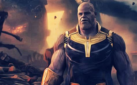 art thanos avengers infinity war   hd wallpapers