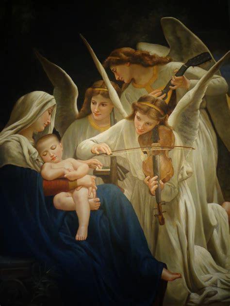 imagenes virgen maria y el niño jesus la virgen maria con el ni 241 o jes 250 s dormido escuchando a los