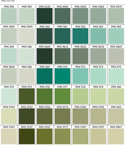 colors that look good with green creative mixx pms colour chart