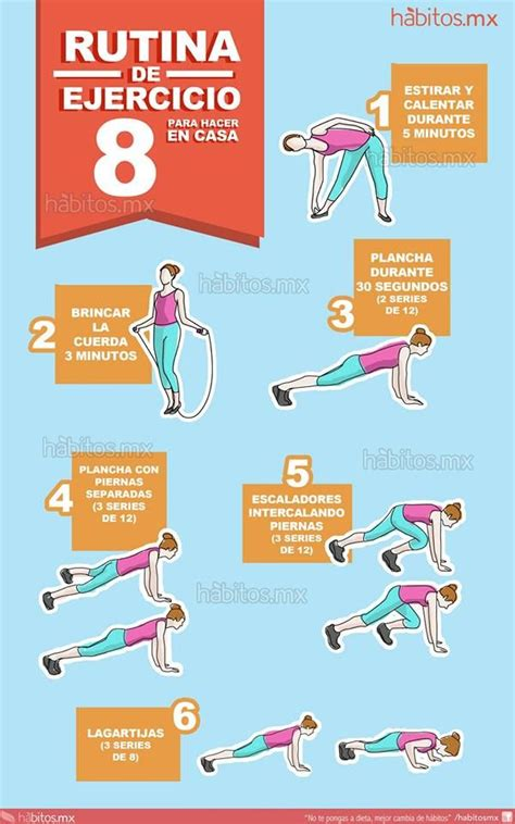 rutina de gimnasio en casa 8 rutina de ejercicio para hacer en casa ejercicios