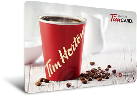 Tim Horton Gift Card - reload your timcard 174 easily register your timcard 174