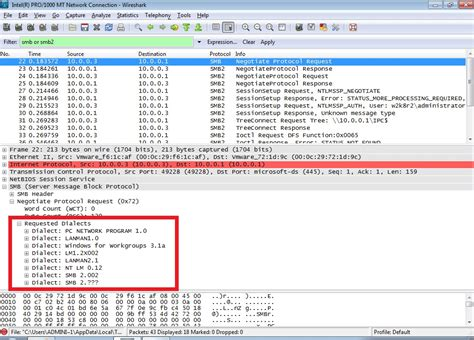 tutorial wireshark 2 0 2 wireshark determining a smb and ntlm version in a windows