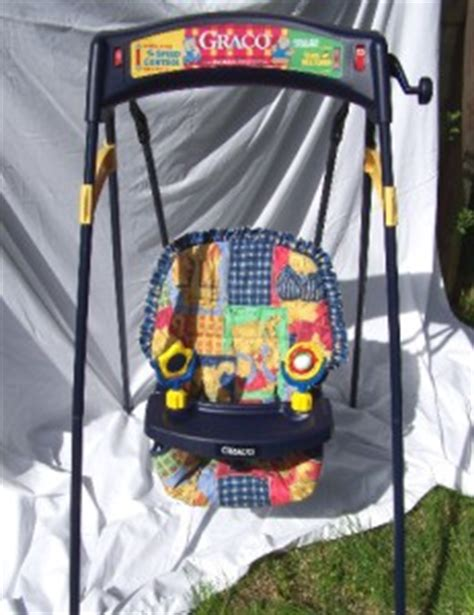 graco swing toys for tray vintage graco wind up baby swing 2 speeds seat belt