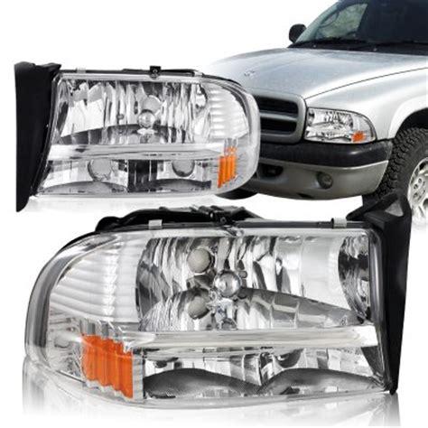 2001 dodge dakota headlights dodge durango 1998 2003 chrome headlights one