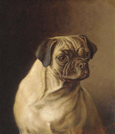 pugs in paintings horatio henry couldery 1832 1893 painter of an admirer
