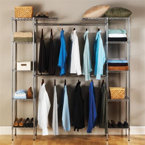 storage organizers for closets seville classics expandable closet organizer