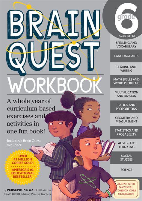 printable brain quest worksheets brain quest workbook grade 6 workman publishing
