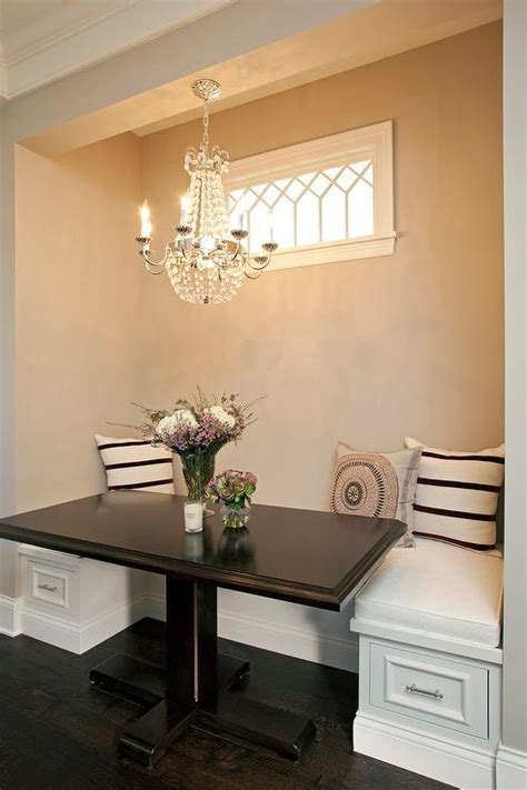 Breakfast Nook Chandelier Breakfast Nook With Clear Beaded Chandelier Transitional Dining Room