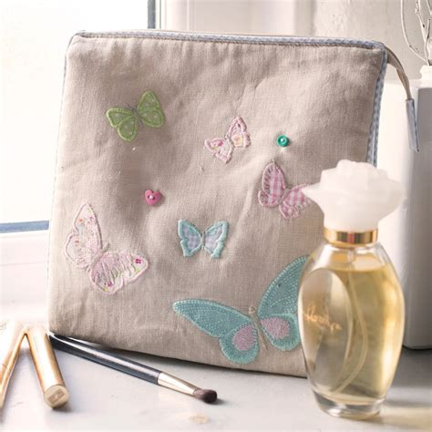 Toiletry Bag Personalised Personalised White Butterfly Toiletry Bag