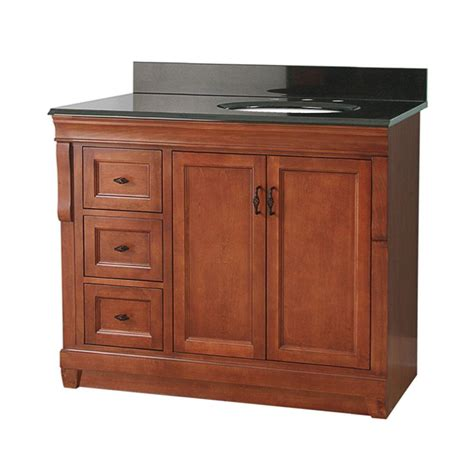 Offset Sink Vanity Top by Foremost Naples 37 In W X 22 In D Vanity In Warm