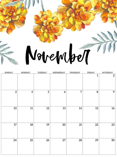 printable calendar november  excel sheets catchy printable template sheets