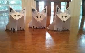How To Make A Paper Wolf - make easy adorable origami arctic wolves foxes