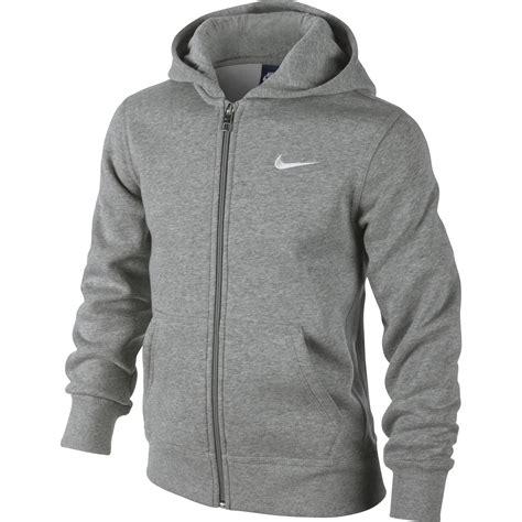 Brushed Fleece Hoodie nike boys ya76 brushed fleece zip hoodie grey