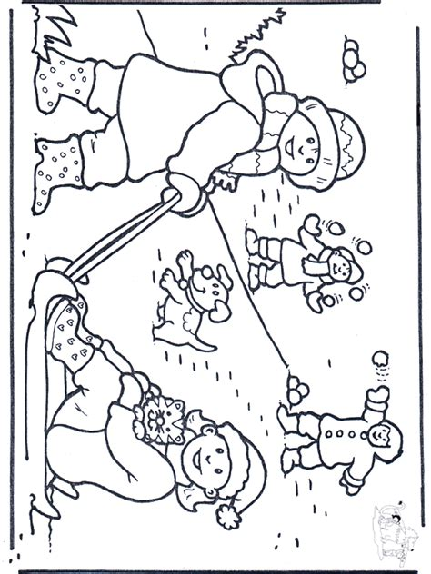 snow dogs coloring pages