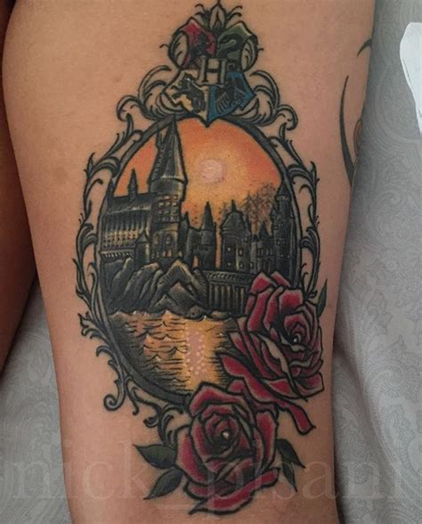hogwarts castle tattoo hogwarts by nick pisani a blank space