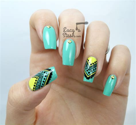 aztec pattern nail art aztec nail art feat graffiti nails lucy s stash