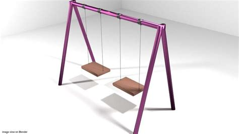 swing elements playground element swing 3d model obj 3ds lwo lw lws