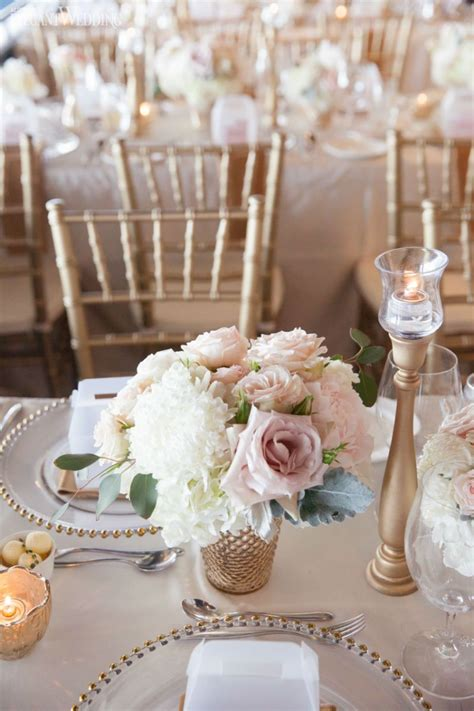 Flower Ideas Gold Wedding by Soft Blush Pink And Gold Wedding Flowers And Decor